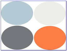 green orange and grey color scheme painting home design ideas