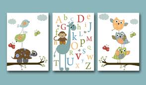 baby nursery wall art decorations for baby nursery monkey
