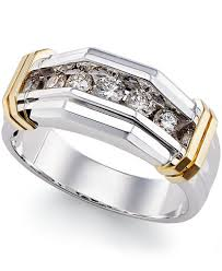 gold ring images for men men s diamond ring 1 2 ct t w in 10k gold and white gold