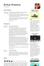 resume of financial analyst financial analyst resume samples visualcv resume samples database