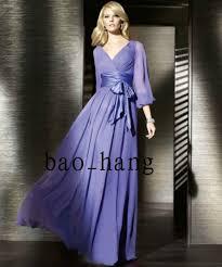 3 4 sleeve bridesmaid dresses purple sash chiffon 3 4 sleeve bridesmaid dress 2 4 6 for sale