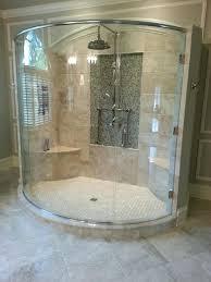 Bathroom Shower Door Seals Curved Shower Doors Bay Glass Works Portfolio Curved Bath Shower