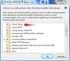 activer connexion bureau distance windows 7 activer telnet sous windows 7 libellules ch