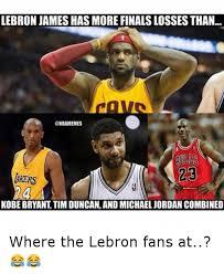 Kobe Lebron Jordan Meme - lebron james has more finals lossesthan nbamemes 23 arers kobe
