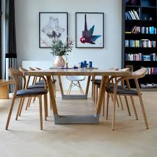Light Dining Chairs Artisan Neva Light Dining Chairs In Oak And Leather At 1stdibs