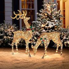 sweet reindeer yard decorations 41 best light up