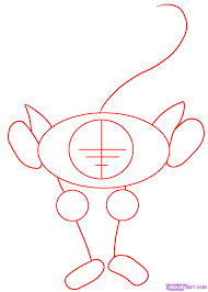 draw a cartoon monkey step by step drawing sheets added by dawn