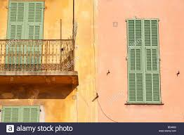 pastel shades of house facades in old town villefranche sur mer