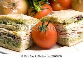 gourmet turkey gourmet turkey sandwich with muenster cheese gourmet stock