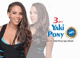yaki pony hair styles bijoux synthetic braiding hair yaki pony 3pcs braid toyokalon