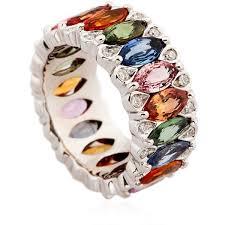 coloured rings jewelry images 92 best jewellery rainbow diamond sapphire images jpg