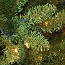 pre lit artificial christmas trees buy the 7 5 ft pre lit kingswood fir pencil artificial christmas