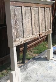 90 year old door made into a headboard hometalk