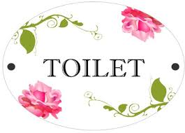 shabby chic toilet door plaque sign toilet amazon co uk