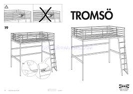 ikea tromso loft bed ikea loft bed assembly instructions home decor modern ideas