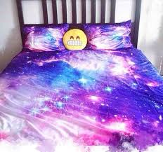 Galaxy Bed Set Galaxy Bed Sheets And Emoji Pillow On The Hunt