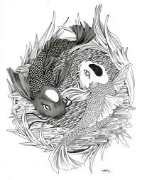1506 yin yang koi fish ginnungagap designs drawings