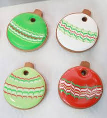 how to decorate marbled ornament cookies sweetopia