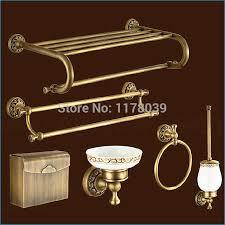 carved europe style bronze bathroom hardware antique brass