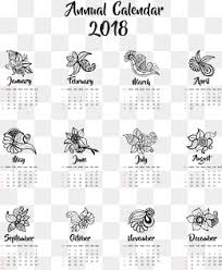 Calendar 2018 Ai Template 2018 Calendar Png Images Vectors And Psd Files Free