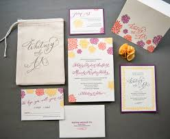 wedding invitation suites a k s colorful letterpress wedding invitations