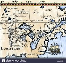 Map Louisiana by Hennepin Map Of New France Louisiana Carte De La Nouvelle France