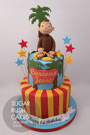 curious george birthday cake children cakes sugar cakes montreal