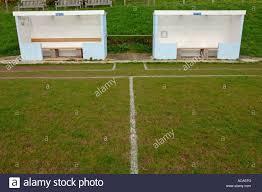 football dugout away dug out britain uk stock photo royalty