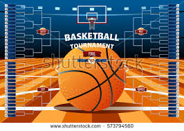 vector illustration college basketball tournament icons stock