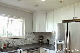 tiles backsplash espresso brown cabinets color of kitchen