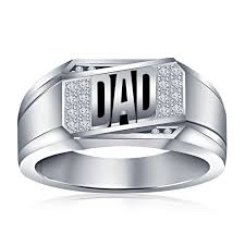 buy rings silver images Buy vorra fashion platinum plated 925 silver black enamel dad ring jpg