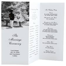 wedding bulletins exles tri fold wedding program template tbrb info