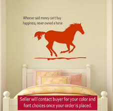 Dorm Room Wall Decor by Horse Wall Decal Girls Room Quote Decal Wall Words Decal Teen