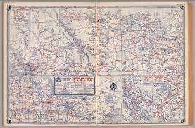 Canada Highway Map by Road Map Of Western And Central Canada David Rumsey Historical