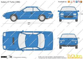subaru xt the blueprints com vector drawing subaru xt turbo