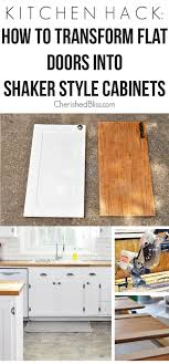 diy simple kitchen cabinet doors kitchen hack diy shaker style cabinets cherished bliss