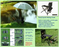 Sports Chair With Umbrella Genji Sports Fishing Chair And Bag