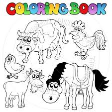 coloring book pages farm animals coloring pdf farm animals