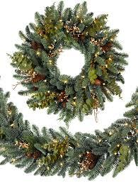 mountain meadow artificial christmas wreath and garland
