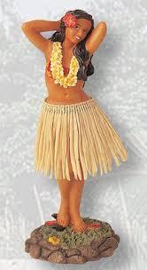 true vintage hawaiian aloha hula dancer dashboard nodder