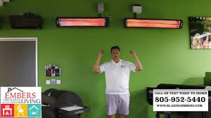 Electric Patio Heaters by Bromic Outdoor Electric Patio Heater Review Youtube