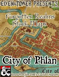 Map Of Faerun City Of Phlan Forgotten Realms Stock Maps Dungeon Masters