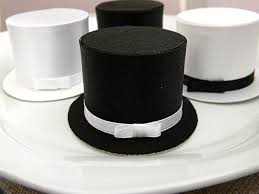 gentleman baby shower 6 black and white top hat favor boxes wedding gift box