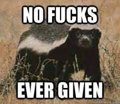 Meme Honey Badger - crazy nasty ass honey badger makes me laugh pinterest honey badger