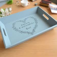 engraved serving trays sky blue wooden platter engraved wood serving tray housewarming