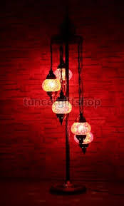 Mosaic Floor Lamp Mosaic Floor Lamp 5 Bulb Standing Lamp Red Star