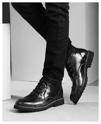 british classic dress boots men leather oxfords shoes winter