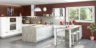cuisine ouverte moderne cuisine ouverte et moderne coloris blanc et gris cendré cuisines