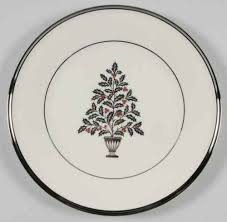 lenox solitaire tree salad plate 932013