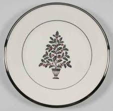 lenox solitaire tree salad plate 932013